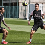 Lionel Messi Smiles As He trains with PSG For The First Time After FC Barcelona Exit